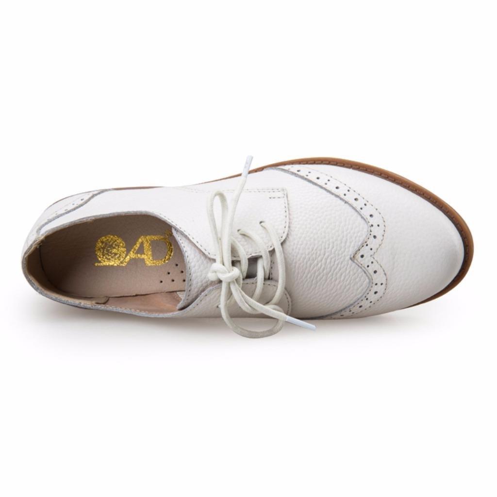 548f3c04a3ac3c Moonwalker Chaussures Femme Derbies à Lacets en Cuir Véritable: Amazon.fr:  Chaussures et Sacs