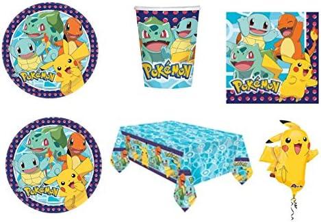 Party Store Web by Casa Dolce Casa Pokemon Pikachu - Juego de mesa de Pokémon - Kit n.º 5 CDC (40 platos, 40 vasos, 48 servilletas, 1 mantel y 1 globo Supershape: Amazon.es: Juguetes y juegos