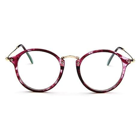 06ee9738f13da5 Forepin reg  Lunettes de Vue Rondes Unisex Cadre Frame Lentille Claire pour  Homme et Femme Vintage