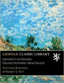 Book University of Oxford: College Histories: New College