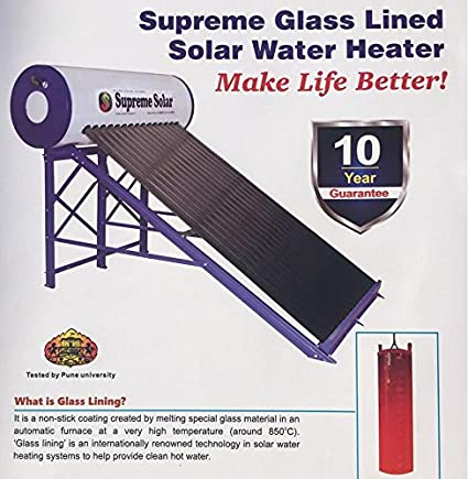 Buy Supreme Glass Lined Solar Water Heater, Capacity 220 Lpd Online