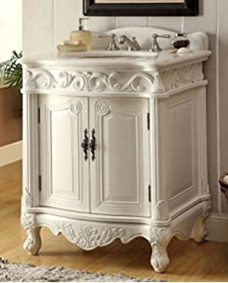 Etonnant 27u201d Antique White Petite Powder Hayman Bathroom Sink Vanity Model  BC 2917W AW