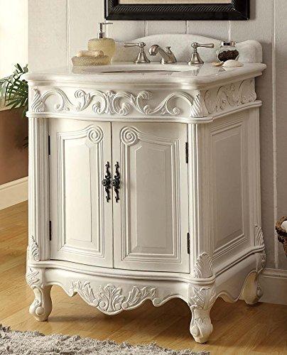 Delicieux 27u201d Antique White Petite Powder Hayman Bathroom Sink Vanity Model  BC 2917W AW
