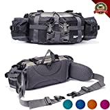 YUOTO Outdoor Fanny Pack 2 Extra Shoulder Strap Hiking...