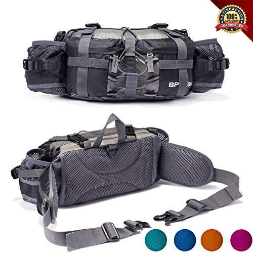 YUOTO-Outdoor-Fanny-Pack-Hiking-Camping-Hunting-Ski-Fishing-Gear-Waist-Pack-2-Water-Bottle-Holder-Lumbar-Bag