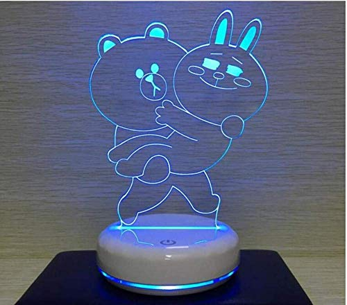 Chandelier Rabbit - Ceiling Lights Lamps Chandeliers Pendant Light Fixtures Brown Bear ins Girl Heart Cute Night Light Can be Nepal Rabbit Table Lamp Led Bedside Lamp Room Anime Surrounding Gifts for Bedroom Living Room