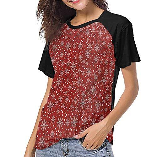 Summer Casual O-Neck,Geometric,Winter Season Holiday S-XXL Girls Short Sleeves ()