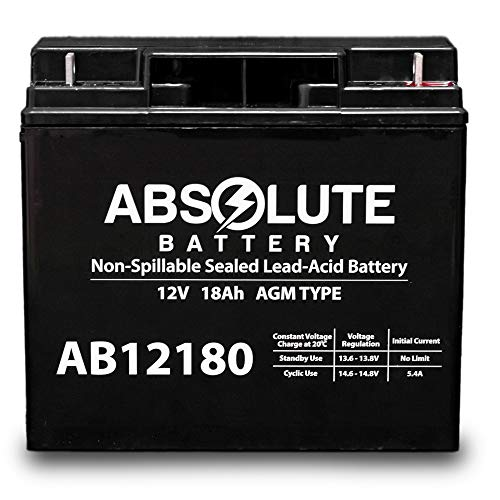 AB12180 12V 18AH SLA Battery for DR Field Tow-Behindand Brush Mower