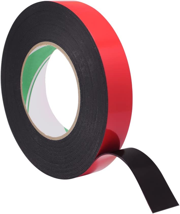 Meetory 10 Meter 25mm Width Double Sided Foam Mounting Tape - Sponge Tape Automotive Grade Number Plates Car Trims