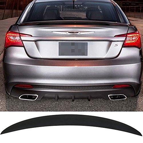 Trunk Spoiler Fits 2011-2014 Chrysler 200   OE Style ANS Unpainted Black Trunk Boot Lip Spoiler Wing Add On Deck Lid By IKON MOTORSPORTS   2012 2013