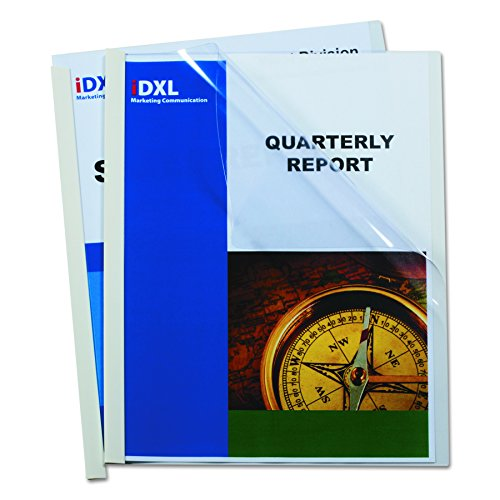 C-Line Report Covers with Binding Bars, Clear Vinyl, White Bars, 8.5 x 11 Inches, 50 per Box - 11 Vinyl Inch
