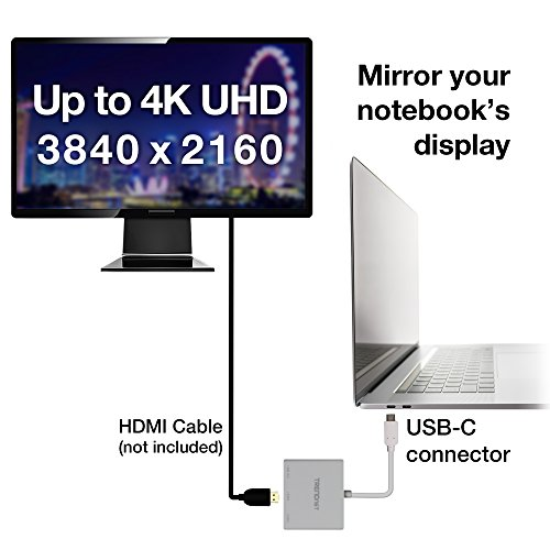 TRENDnet USB-C to HDMI with Power Delivery and USB 3.0 Port, 4K UHD Resolution, Flexible Connector, Easy Set-Up, Compact Design, TUC-HDMI3 by TRENDnet (Image #6)