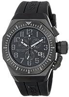 Swiss Legend Men's 10540-BB-01-GRYA Trimix Diver Chronograph Black Dial Black Silicone Watch by Swiss Legend