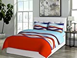 Bombay Dyeing 525B Cotton Double Bedsheet with 2 Pillow Covers-Red