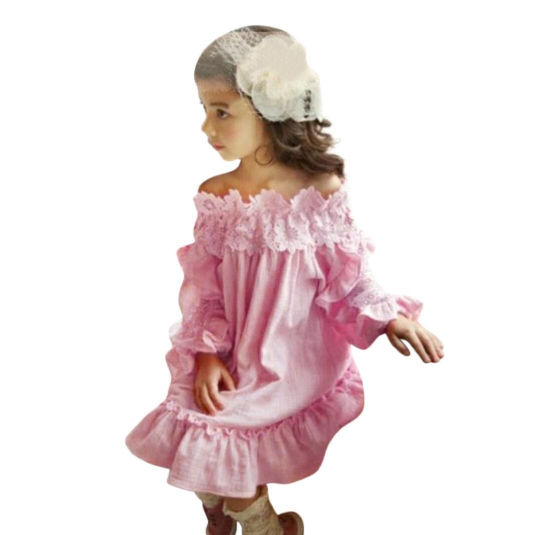 Falda Chicas ropa infantil bebé niña Vestido de fiesta de princesa ...