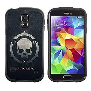 Suave TPU Caso Carcasa de Caucho Funda para Samsung Galaxy S5 SM-G900 / Dead De Sound DDS / STRONG