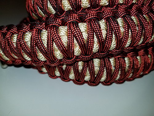 Metallic Red and Pearl King Cobra Paracord Dog Leash
