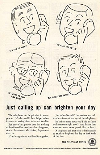 Brighten Your Day, Bell Telephone Print Ad (1956 Bell Telephone)