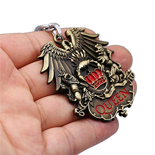 FITIONS - British Rock Band Queen Keychain Metal Key Chains Pendant Key Chain Chaveiro Key Ring Car Bag For Men Women