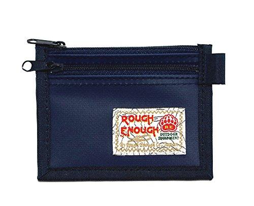 Rough Enough Credit Card Coin Holder Case Pocket (Blue)