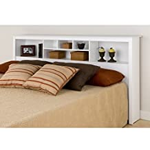 Prepac WSH-8445 Monterey King Storage Headboard (White)