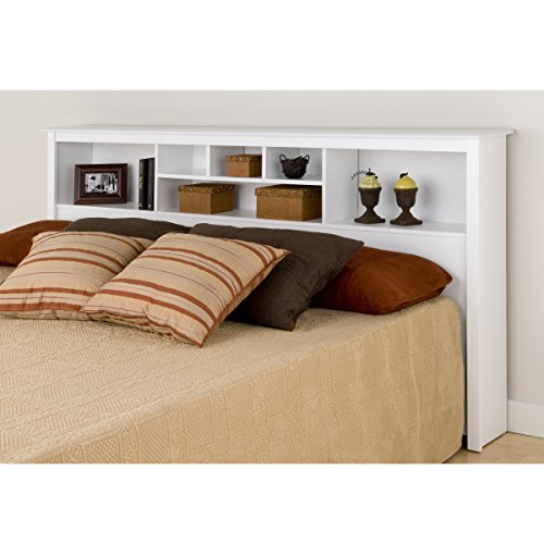 Prepac WSH-8445 Monterey Storage Headboard, White, King