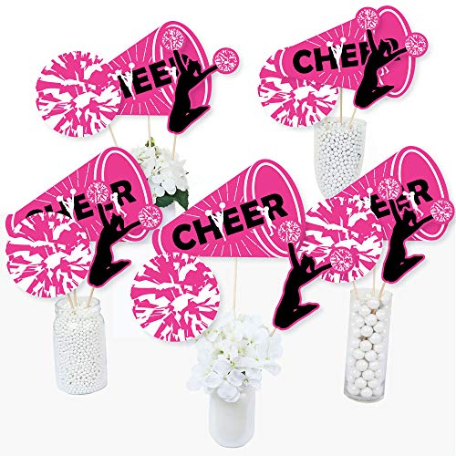 We Got Spirit - Cheerleading - Birthday Party or Cheerleader Party Centerpiece Sticks - Table Toppers - Set of 15 -