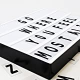 Cinema Light Box, Light Box with Letters, Cinematic