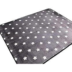 Ukeler Modern Kids Rugs Children Crawling Mat Non-Slip Thicken Washable Carpet for Nursery Room, 59''x74.8'', Star