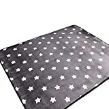 Ukeler Modern Kids Rugs Children Crawling Mat Non-Slip Thicken Washable Carpet Nursery Room, 59''x74.8'', Star