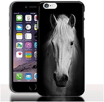 Coque iPhone 7 Cheval Noir et Blanc - Coque Portable antichocs Rigide (4.7