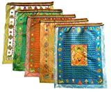 """nice patio design ideas pictures 2015 Prime-Products Tibetan Prayer Flag - Large Satin Buddha Design (13"""" x 11"""") - Roll of 10 Flags - Handmade in Nepal - Buddhist Flags - Five Element Colors"""