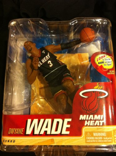 D Jersey Wade (McFarlane Toys NBA Sports Picks Series 20 Action Figure Dwyane Wade (Miami Heat) El Heat Uniform Gold Collector Level Chase)