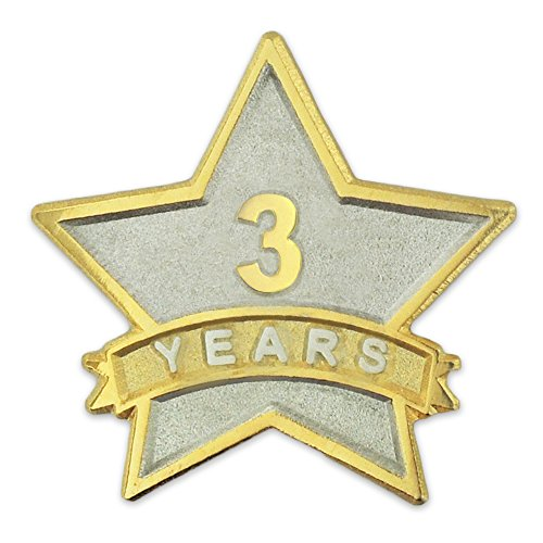Service Star Pin (PinMart's 3 Year Service Award Star Corporate Recognition Dual Plated Lapel Pin)