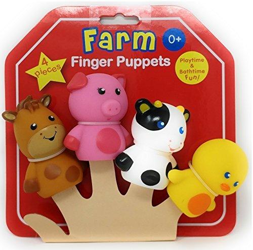 - Rashti & Rashti - FARM FINGER PUPPETS 4 PIECES - Palytime & Bathtime Fun!