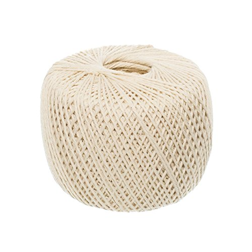 (1mm x 400m (About 437 yd)) Handmade Decorations Natural Cotton Bohemian Macram DIY Wall Hanging Plant Hanger Craft Making Knitting Cord Rope Natural Color Beige