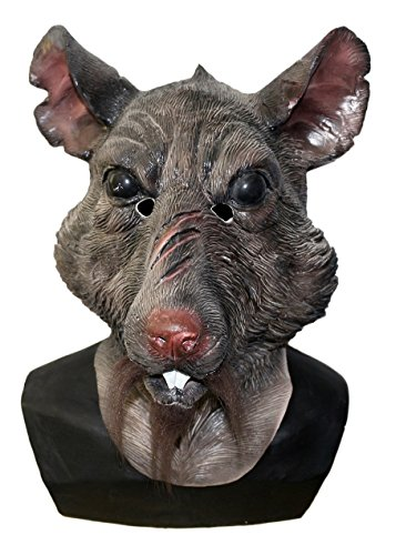 Rat Face Costume (HENGYUTOYMASK Adult New Mutant Rat Head Master Costume Face Splinter Mask)