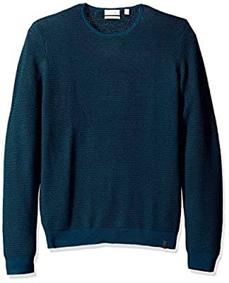 Calvin Klein Men's Merino Ribbed Crew Neck Sweater