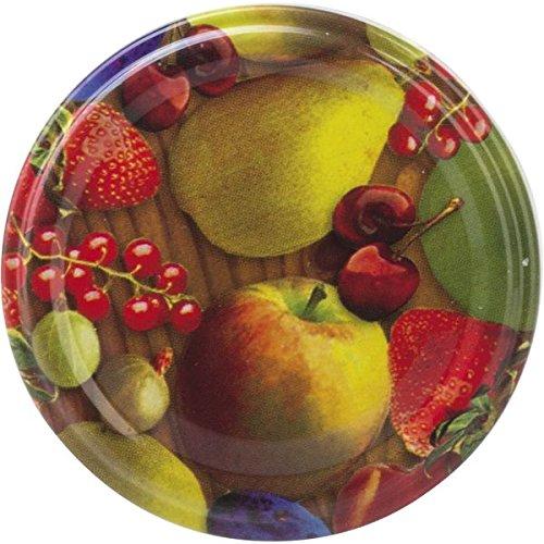 10 Ersatzdeckel mit Twist-Off Verschluss für Einkochgläser mit Obstdekor | TO: 48 mm | Sturzgläser Sturzgläser (WVRXN) 222260108