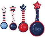 Boston Warehouse Flags Flying Measuring Spoon, Set of 4