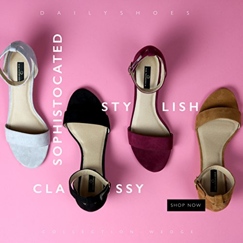 Suede Mauve Ankle Shoes DailyShoes Platform Low Wedge Buckle Heel Sandals Women's Strap Summer Low Wedge Fashion Design IwwaRZq