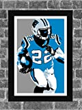Carolina Panthers Christian McCaffrey Sports Print Art 11x17