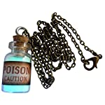 Steampunk Necklace Magic Fire Pixie Angel Dust Pendant Charm Glow in The Dark PS 5