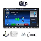 7'' Digital Touch Car Dvd Player Screen In-dash Car DVD Bluetooth CD Video Autoradio Player double 2 din Autoradio Car Stereo AM/FM RDS Head Unit Radio Audio Player Bluetooth+Remote+Camera Mp3 M