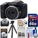 Minolta MN35Z 1080p 35x Zoom Wi-Fi Digital Camera (Black) 64GB Card + Case + Flex Tripod + Kit