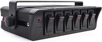 6 cuadrilla de encendido/apagado Interruptor oscilante Caja con luz LED, Panel de Interruptores 12-24V 20A para vehículo automotor marina del barco SUV: Amazon.es: Coche y moto