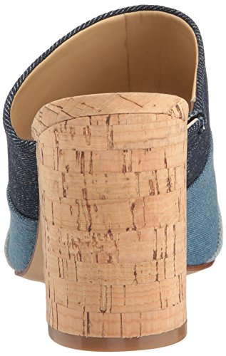 Mules Blue Dark Femme Denim Marc Fisher pour 5nqaaU
