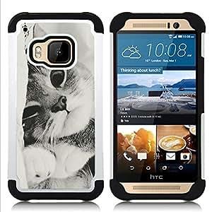 King Case - black white kitten cute shorthair pet - Cubierta de la caja protectora completa h???¡¯???€????€?????brido Body Armor Protecci?