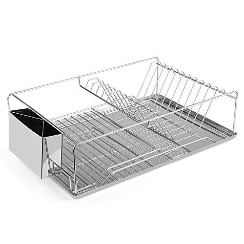 INTEY Chrome Dish Rack Kitchen