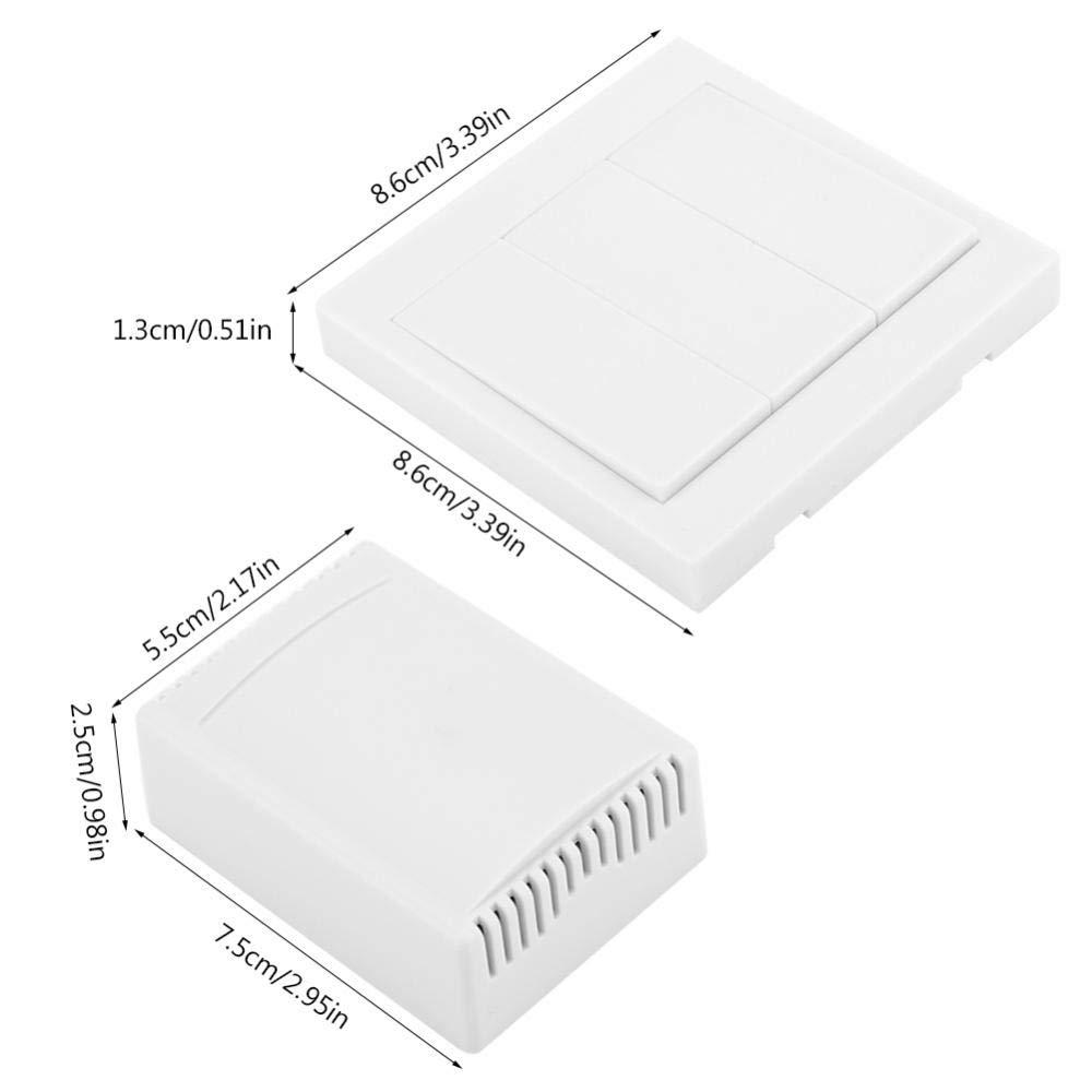 01 FTVOGUE AC85~220V 2CH 433 MHz Control Remoto Inal/ámbrico Panel de Pared Interruptor Anti-Interferencia M/ódulo Receptor de Rel/é para Electrodom/ésticos